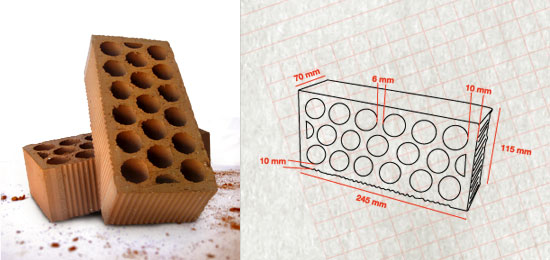 Cemesa for Medidas ladrillo perforado